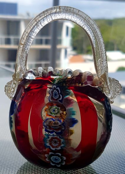 A beautiful designer handbag from Murano glass